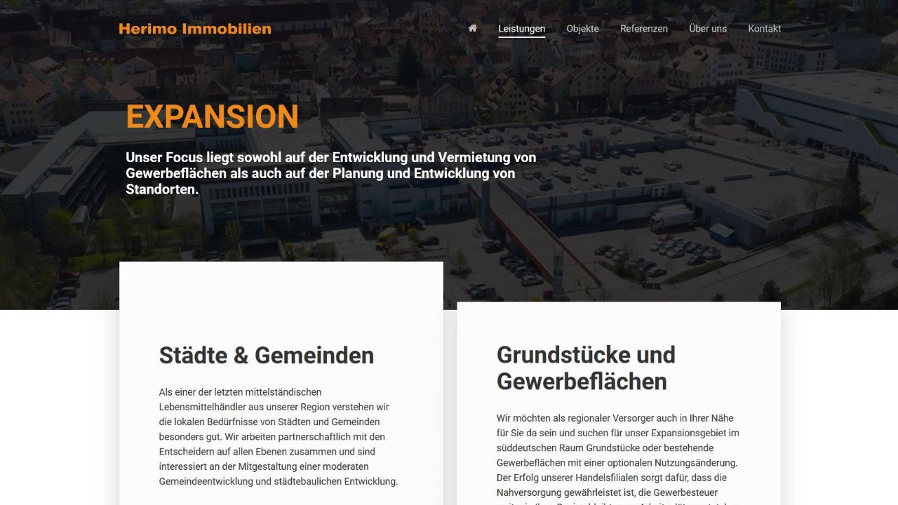 Herimo Immobilien Homepage Bereich Expansion